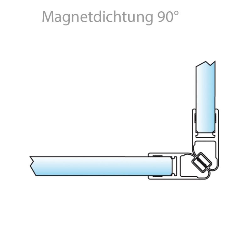 Glasschiebetür Eco-Line gelasert Strip cross - side