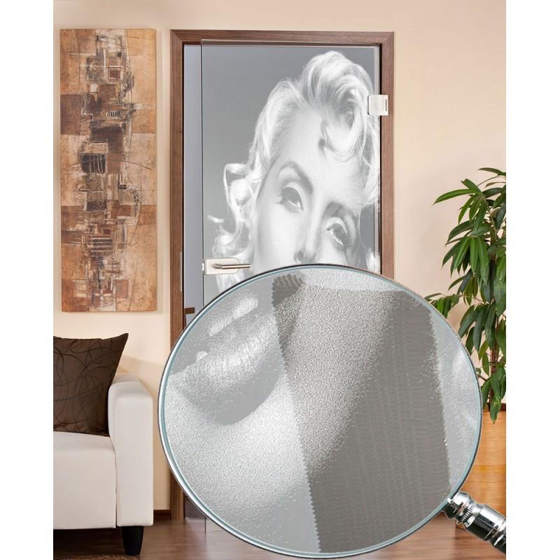 Glastüren - Ganzglastür Monroe gelasert
