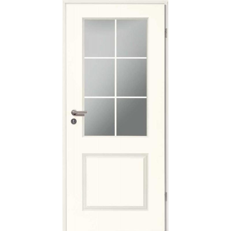 Holztüren - Stiltür Weißlack 4002 mit LA und Sprossen