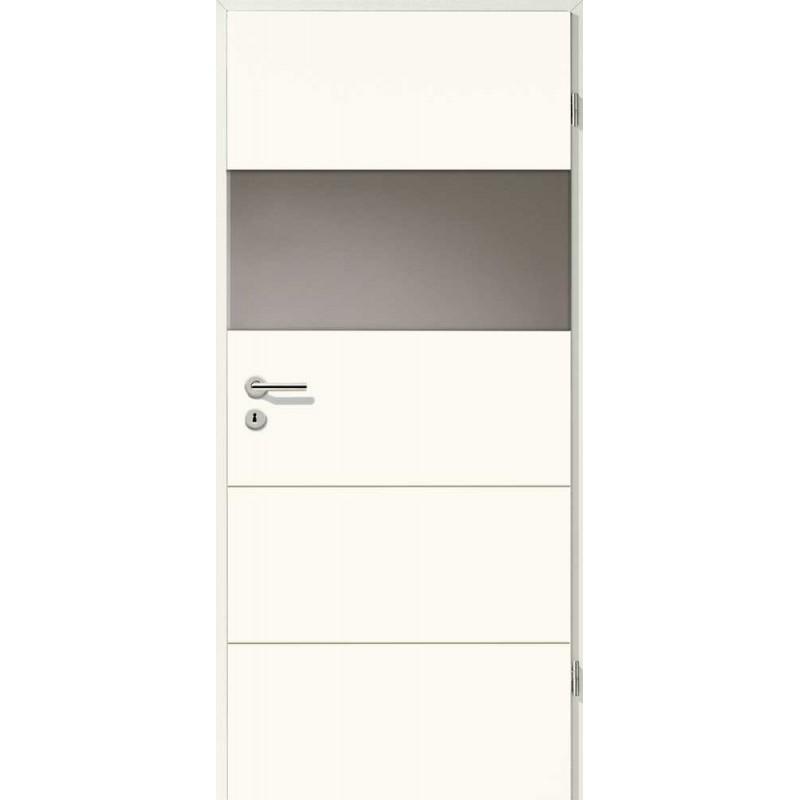 Holztüren - Designtür Weißlack 2505 (RAL9010) mit LA-Quer