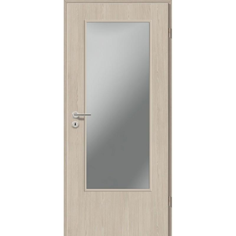 Holztüren - Türblatt CPL - Platineiche mit Lichtausschnitt