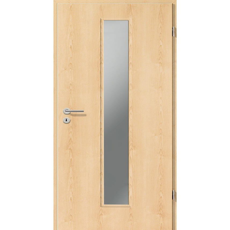 Holztüren - Türblatt CPL - Ahorn Natur mit Lichtausschnitt LA-1