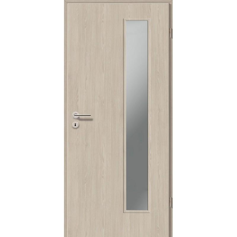 Holztüren - Türblatt CPL - Platineiche mit Lichtausschnitt LA-1B