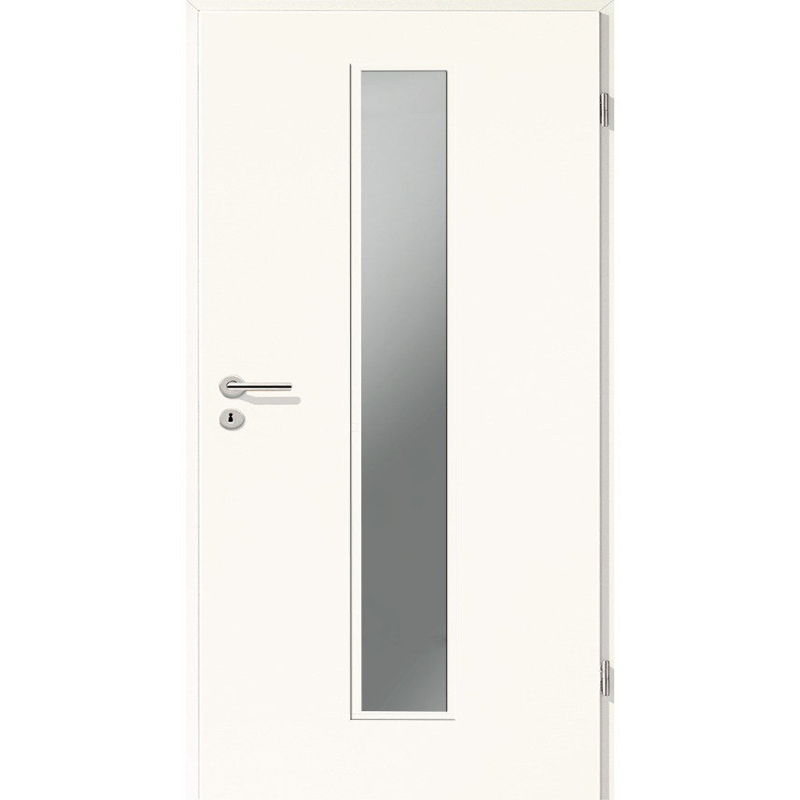 Holztüren - Türblatt CPL - Arctic Weiß mit Lichtausschnitt LA-1