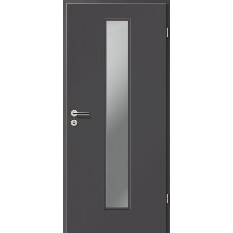 Holztüren - Türblatt CPL - Achat mit Lichtausschnitt LA-1