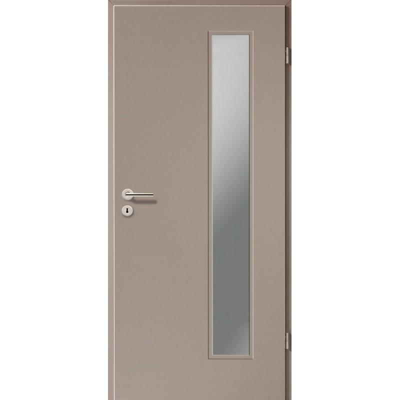 Holztüren - Türblatt CPL - Macchiato mit Lichtausschnitt LA-1B