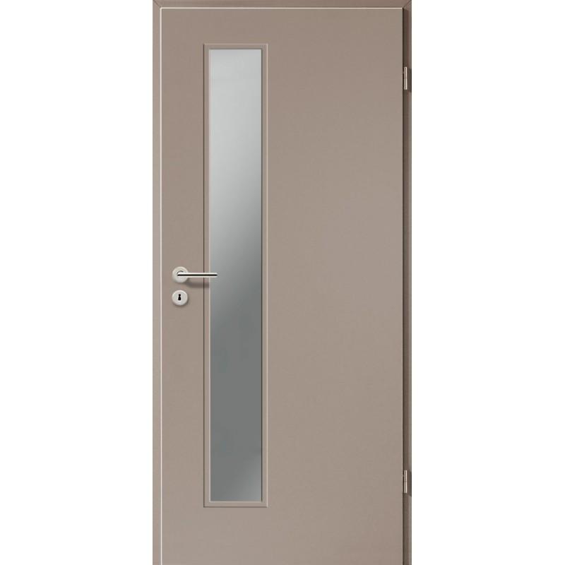Holztüren - Türblatt CPL - Macchiato mit Lichtausschnitt LA-1D