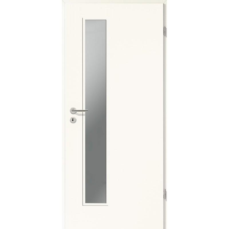 Holztüren - Türblatt CPL - Arctic Weiß mit Lichtausschnitt LA-1D