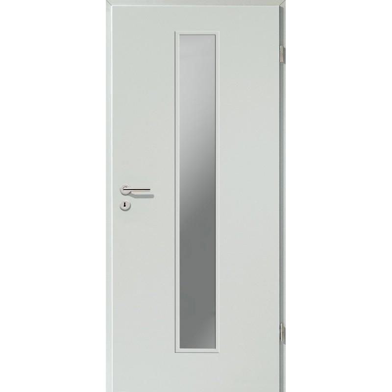Holztüren - Türblatt CPL - Hellgrau mit Lichtausschnitt LA-1