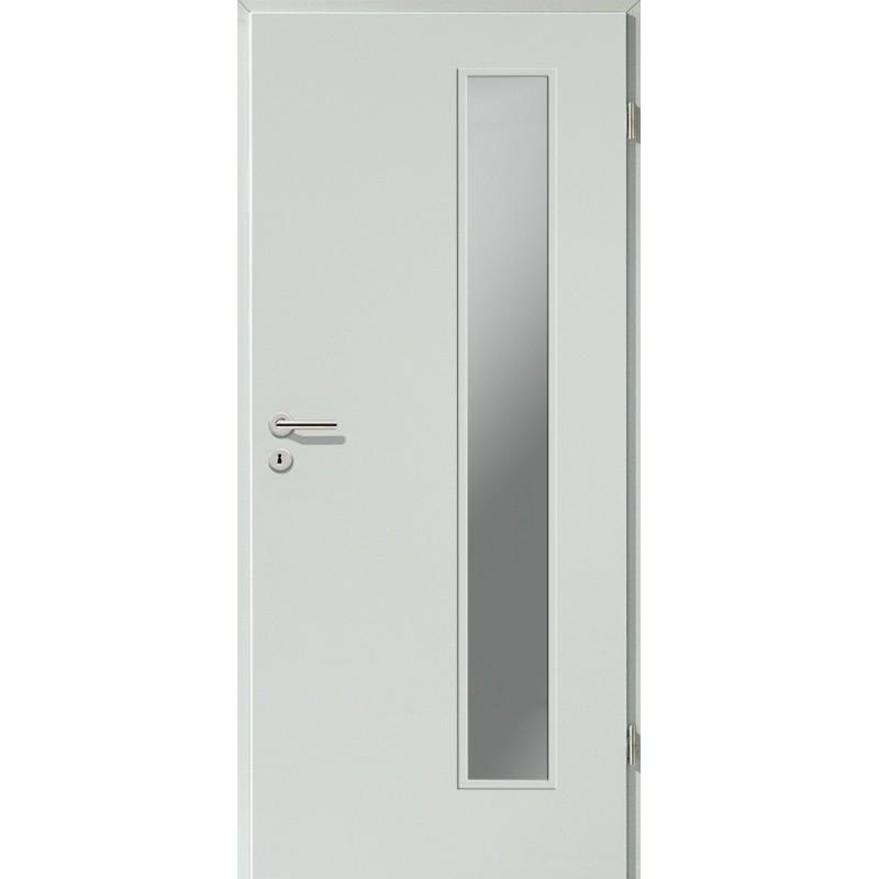 Holztüren - Türblatt CPL - Hellgrau mit Lichtausschnitt LA-1B