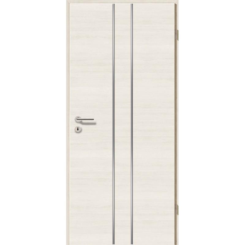 Lisenen-Türen - Pinie Weiß Cross-3501