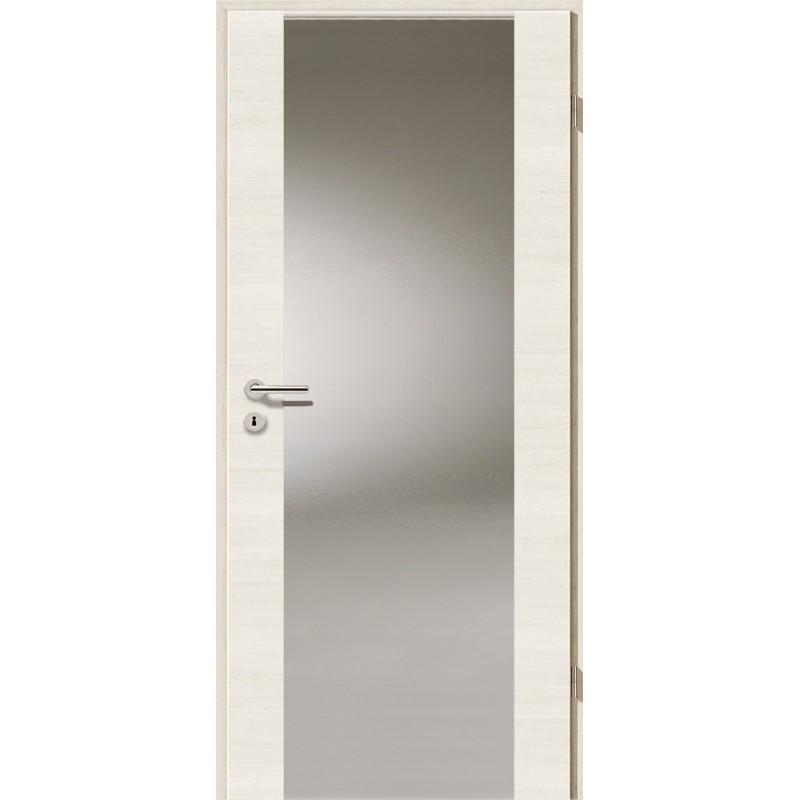 Holztüren - Türblatt - Pinie Weiß Cross mit Lichtband 2100