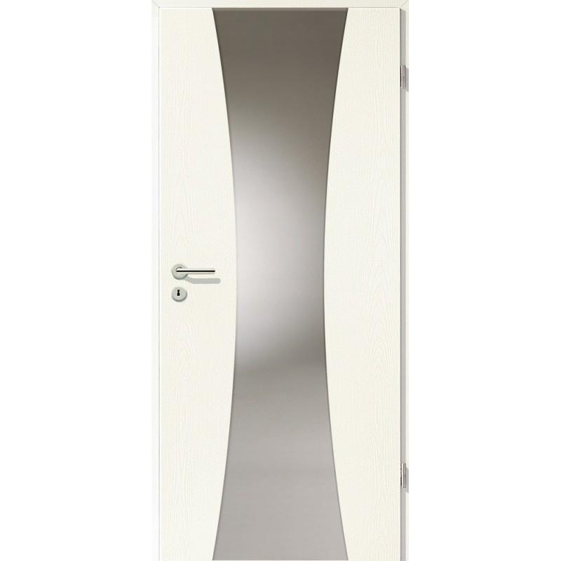 Holztüren - Türblatt - Esche Weiß mit Lichtband 2301