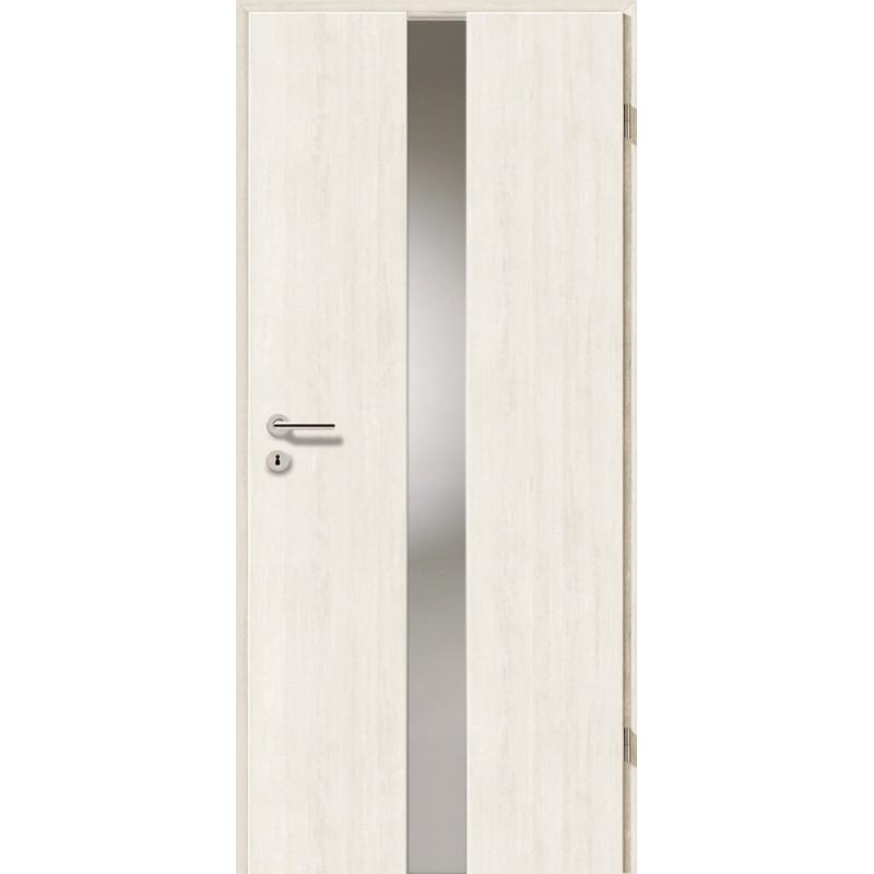 Holztüren - Türblatt - Pinie Weiß mit Lichtband 2201