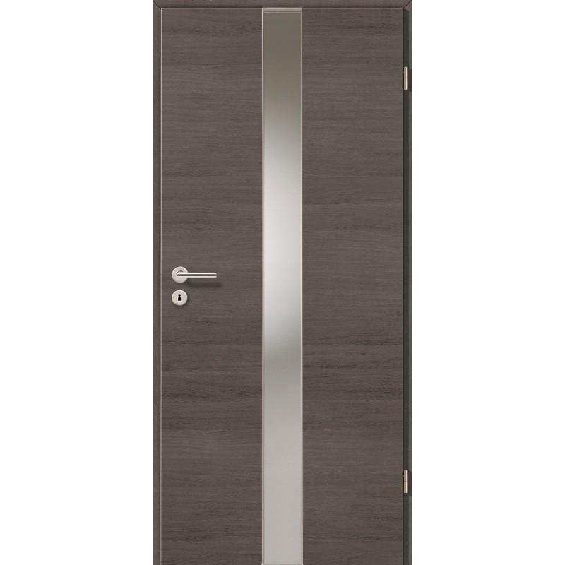 Holztüren - Türblatt - Pinie Grau Cross mit Lichtband 2201
