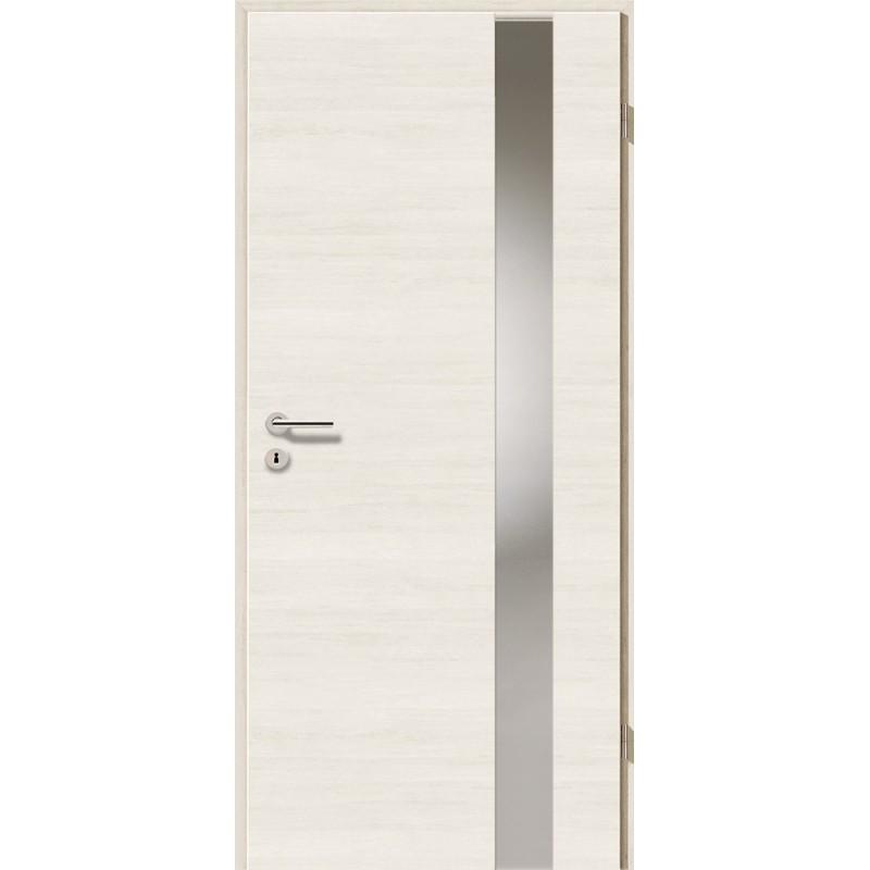 Holztüren - Türblatt - Pinie Weiß Cross mit Lichtband 2203