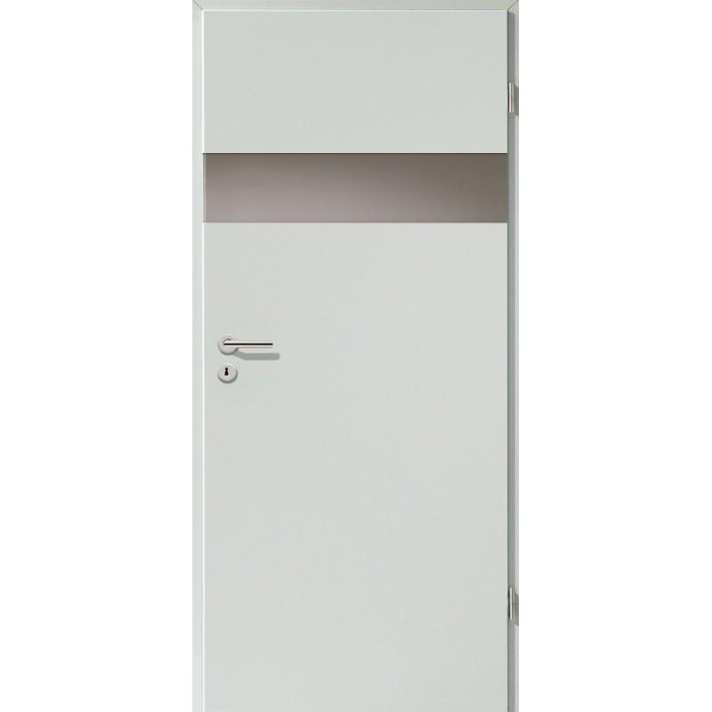 Holztüren - Türblatt - Hellgrau mit Lichtband 2204