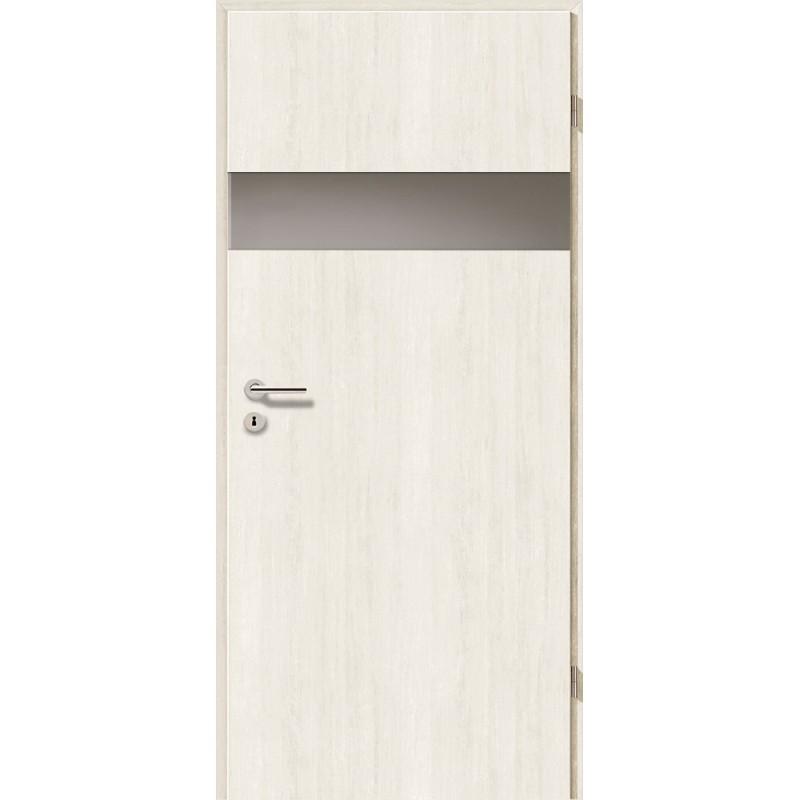 Holztüren - Türblatt - Pinie Weiß mit Lichtband 2204