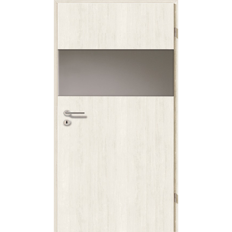 Holztüren - Türblatt - Pinie Weiß mit Lichtband 2209