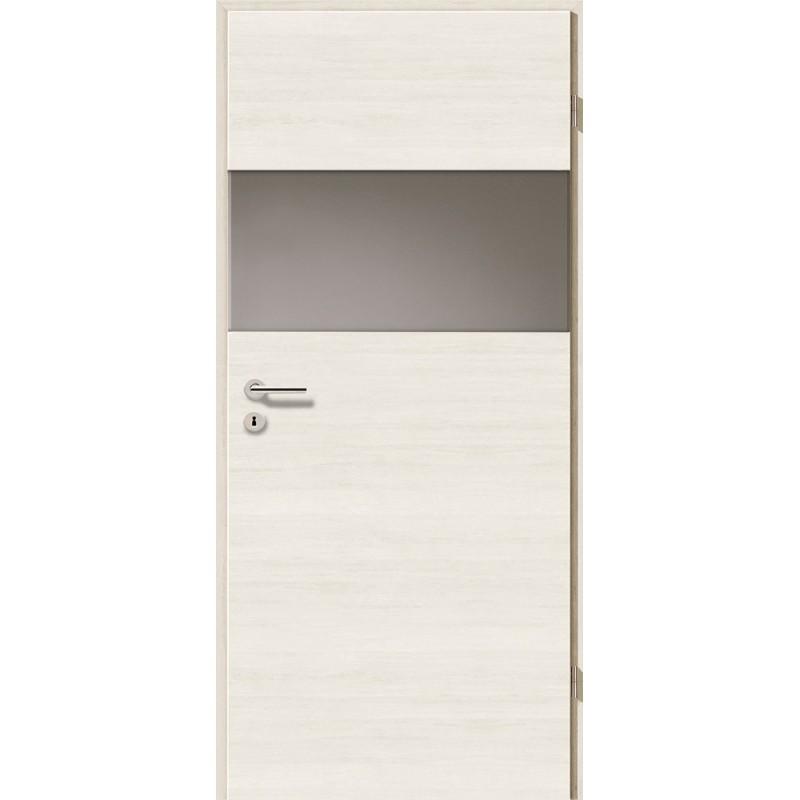 Holztüren - Türblatt - Pinie Weiß Cross mit Lichtband 2209