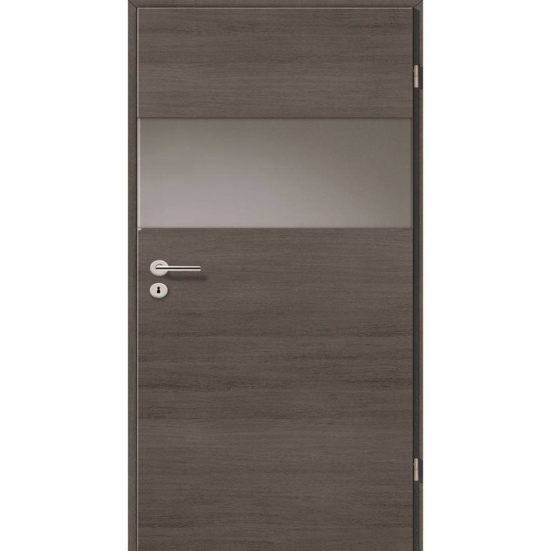 Holztüren - Türblatt - Pinie Grau Cross mit Lichtband 2209