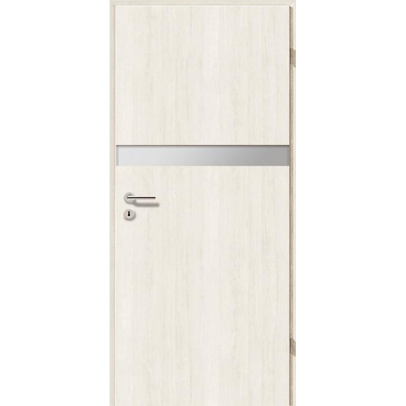 Holztüren - Türblatt - Pinie Weiß mit Lichtband 2211