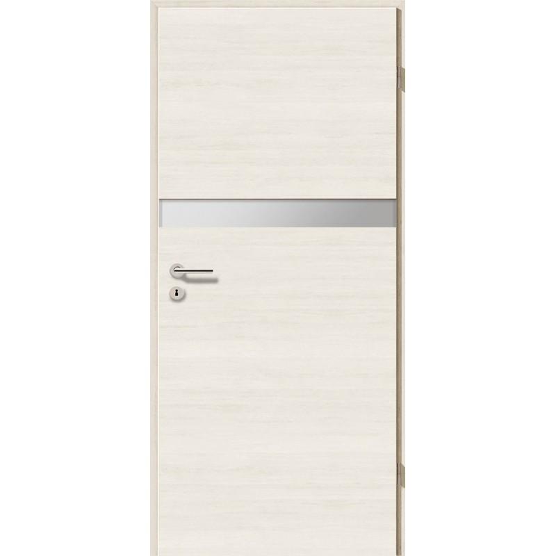 Holztüren - Türblatt - Pinie Weiß Cross mit Lichtband 2211