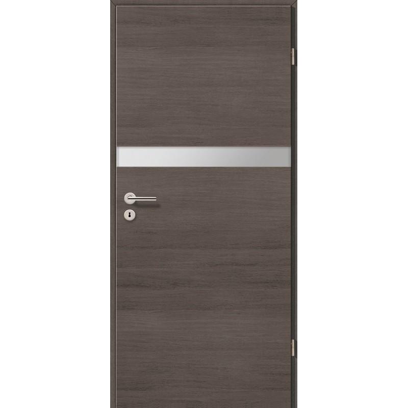 Holztüren - Türblatt - Pinie Grau Cross mit Lichtband 2211