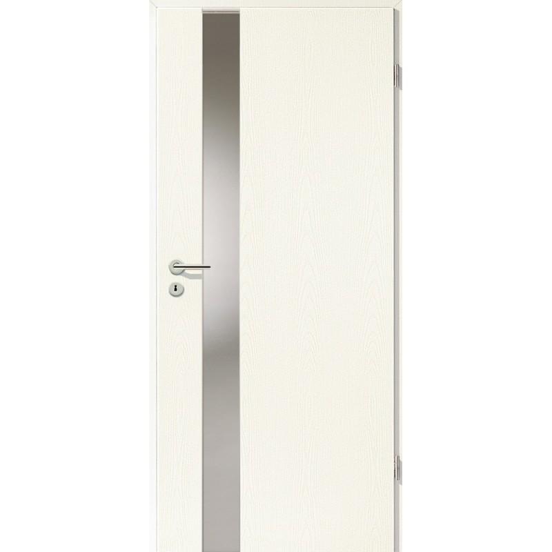 Holztüren - Türblatt - Esche Weiß mit Lichtband 2202