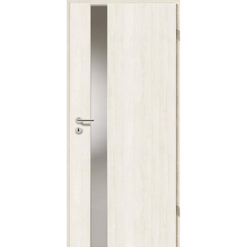 Holztüren - Türblatt - Pinie Weiß mit Lichtband 2202