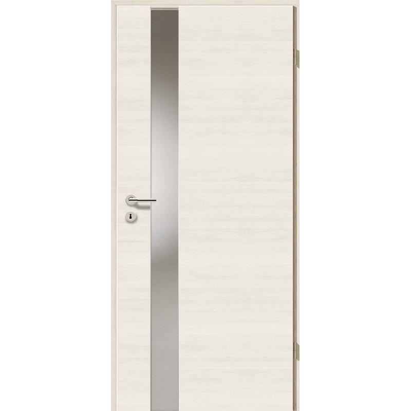 Holztüren - Türblatt - Pinie Weiß Cross mit Lichtband 2202