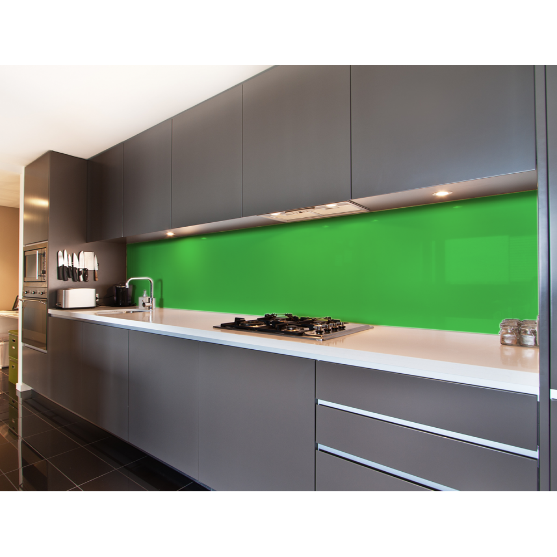 Küchenrückwand Smaragdgrün (RAL 6001)