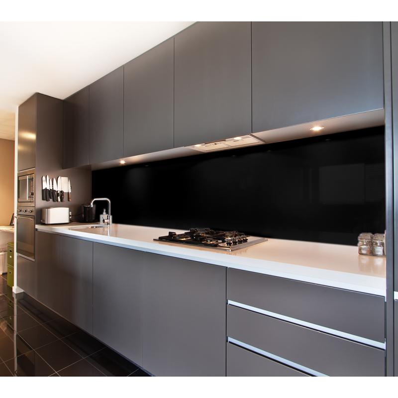 Küchenrückwand Tiefschwarz (RAL 9005)