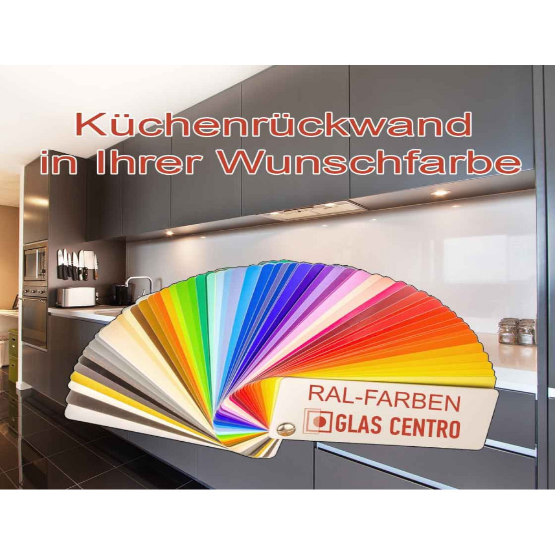 Küchenrückwand in Wunschfarbe