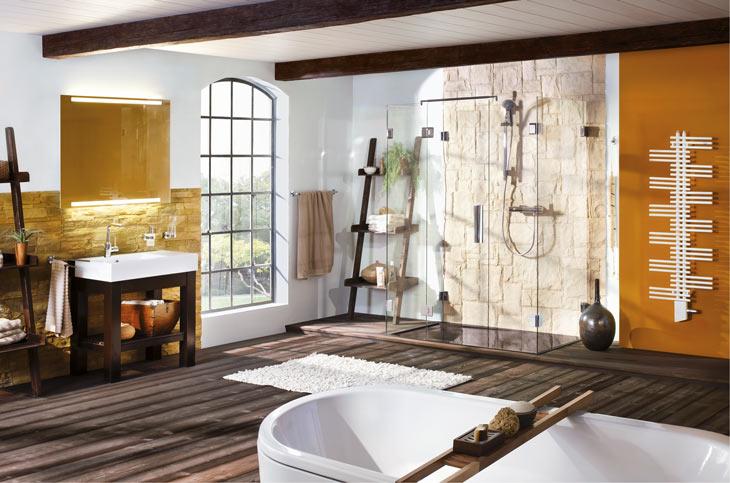 Walk-In-Dusche / Duschwand Glas / Duschtrennwand